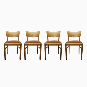 Art Deco German Chairs, 1930s, Set of 4