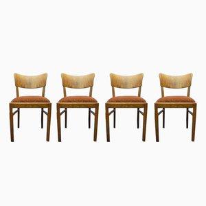 Deutsche Art Deco Stühle, 1930er, 4er Set
