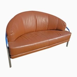 Vintage Leather and Chrome Sofa, 1970s