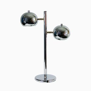 Tall Space Age Chrome Desk Lamp, 1970s