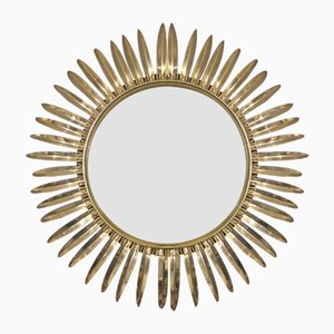 Brass Sunburst Mirror from Deknudt, 1950s