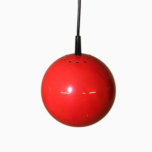 Vintage German Red Spherical Pendant from Brillant Leuchten, 1960s
