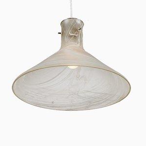 Lámpara colgante modernista grande de vidrio de Peill & Putzler, años 60