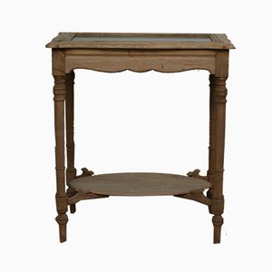 Small Antique French Oak Display Table