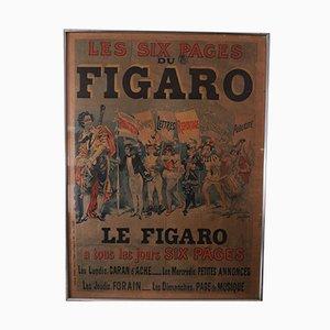 Antikes Le Figaro Zeitungsposter von Harry Finney