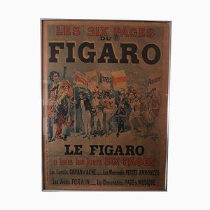 Antique Le Figaro Newspaper Poster by Harry Finney