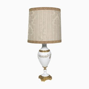 Bisque Porcelain and Gilded Bronze Table Lamp, 1930s