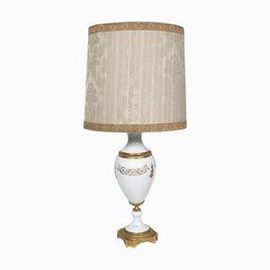 Tischlampe aus Biskuitporzellan & vergoldeter Bronze, 1930er