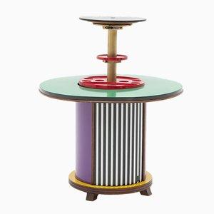 Mueble bar italiano postmodernos circular de Doro Cundo, años 80