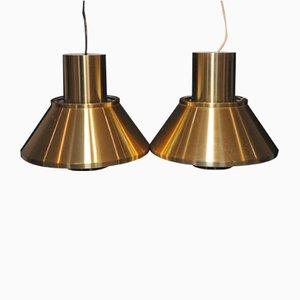 Lampes à Suspension Modèle Life Vintage par Jo Hammerborg pour Fog & Mørup, 1960s, Set de 2