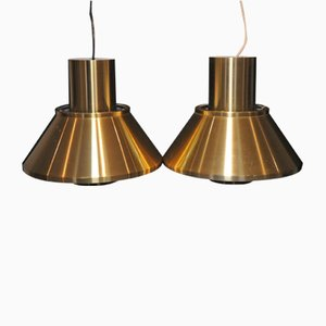 Vintage Model Life Pendant Lamps by Jo Hammerborg for Fog & Mørup, 1960s, Set of 2
