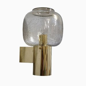 Brass & Bubble Glass Sconce from Limburg, 1960s