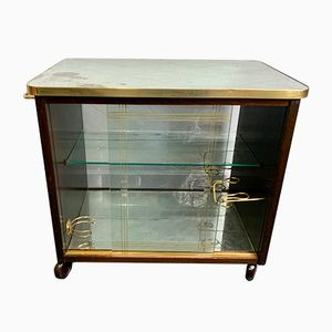 Vintage Italian Mirrored Drinks Trolley