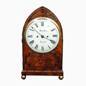 Reloj Regency antiguo de caoba de Bayles