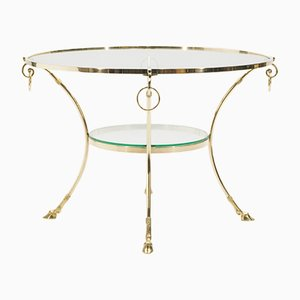 Neoclassical Brass Coffee Table from Maison Charles, 1970s