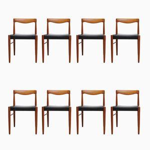 Chaises en Teck par H. W. Klein pour Bramin, 1970s, Set de 8