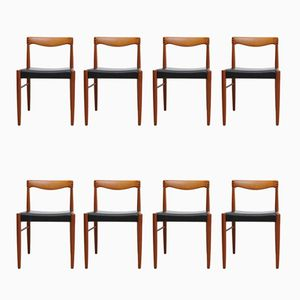 Teak Chairs by H. W. Klein for Bramin, 1970s, Set of 8