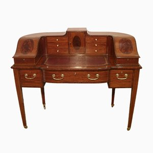 Edwardian Mahogany Carlton House Desk from Shoolbred & Co, 1900s