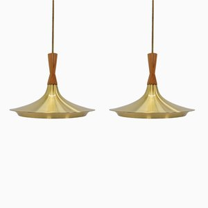 Mid-Century Danish Pendant Lights, 1960s, Set of 2