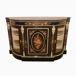 Victorian Ebonised Marquetry Credenza, 1860s
