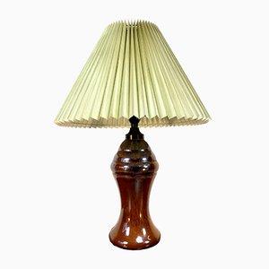 Vintage Tischlampe aus Steingut von Nils Kähler