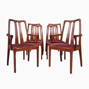 Mid-Century Esszimmerstühle aus Teak von Nathan, 6er Set