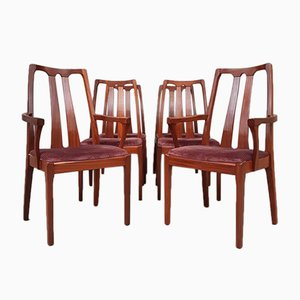 Mid-Century Teak Dining Chairs from Nathan, Set of 6