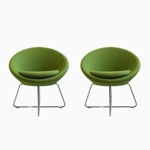Vintage Green Conic Chairs by Pearson Lloyd for Allermuir, Set of 2