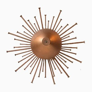 Vintage Danish Sunburst Wall Lamp from Dantoft, 1970s