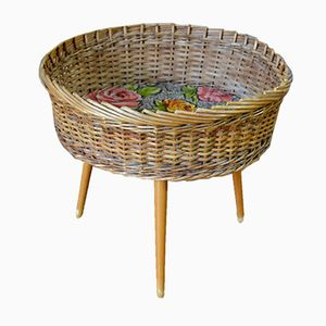 Vintage Rattan Wicker Planter