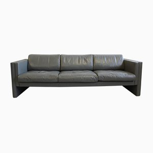 Grey Leather Studio190 Sofa by Jürgen Lange for Walter Knoll