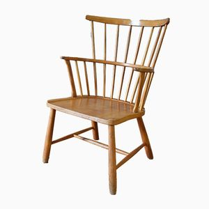 Vintage Windsor Chair by Ove Bolt for Fritz Hansen