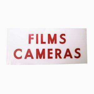 Films Cameras Schild aus Plexiglas, 1970er