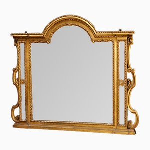 Italian Carved and Gilded Wood Mirror, 1930s