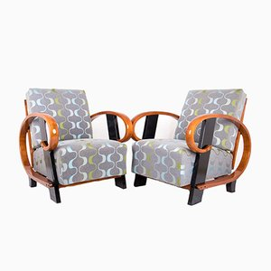 Art Deco Armchairs from Thonet, 1930s, Set of 2
