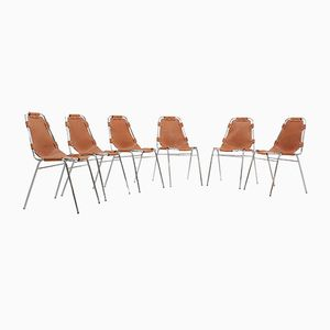 Les Arcs Dining Chairs by Charlotte Perriand, 1950s, Set of 6