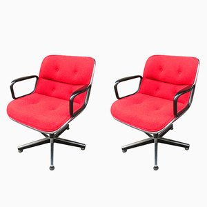 Mid-Century Swivel Chairs by Charles Pollock for Knoll International, Set of 2