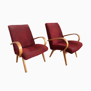 Vintage Armchairs by Jindřich Halabala, Set of 2