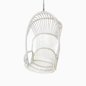 Vintage Dutch Rattan Hanging Chair, 1964