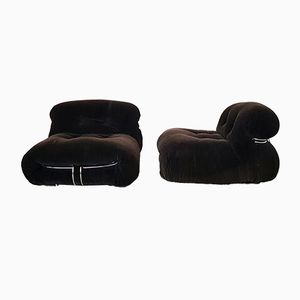 Vintage Model Soriana Lounge Chairs by Tobia & Afra Scarpa for Cassina, 1970s, Set of 2