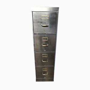 Vintage Industrial 4-Drawer Filing Cabinet