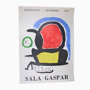 Sala Gaspar Poster by Joan Miró, 1970s