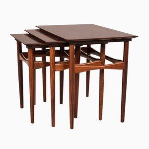 Tavolini ad incastro in palissandro di Poul Hundevad, anni '60