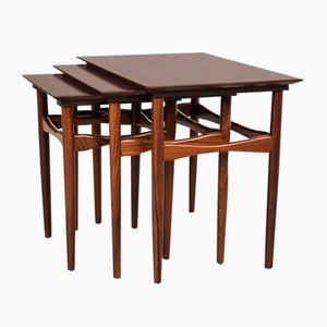 Vintage Rosewood Nesting Tables by Poul Hundevad, 1960s