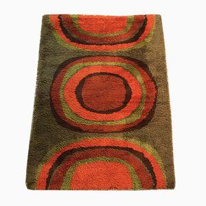 Handgefertigter dänischer Vintage Teppich, 1970er