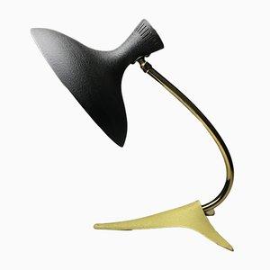 Lámpara de mesa vintage con base en forma de pata de cuervo de Louis Kalff, años 50