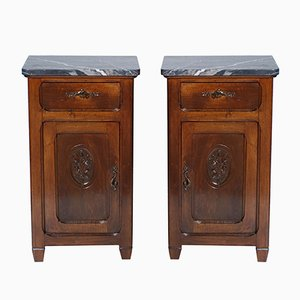 Italian Art Nouveau Walnut Nightstand, 1900s