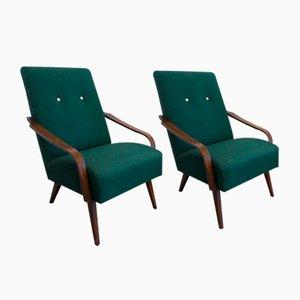 Grüne Vintage Sessel, 2er Set