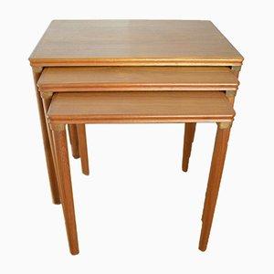 Tavolini ad incastro in teak di Bramin, anni '60