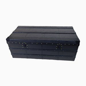 Vintage French Black Trunk by Moynat
